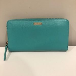 Gently Used Kate Spade Turquoise Blue Wallet